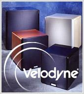 Реклама сабвуферов Velodyne