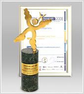 """Сайт группы """"Текарт"""" - победитель конкурса """"Золотой сайт-2008"""""""