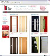 Разработка нового сайта американского дистрибьютора дверей MilanoDoors