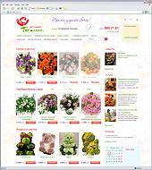 Разработан сайт салона флористики «Токонома»