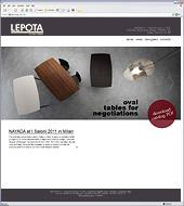 Разработан промо-сайт эксклюзивной авторской мебели LEPOTA
