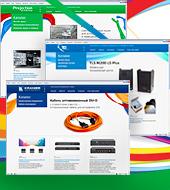 Сайты брендов KRAMER, ProScreens, TLS Communication для дистрибьютора VEGA