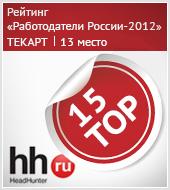 «Текарт» на 13 месте в «Рейтинге работодателей России-2012»