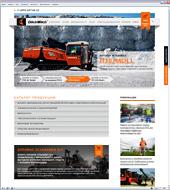 Новая версия сайта производителя техники для ГНБ DitchWitch