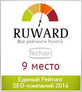 """""""Текарт"""" вошел в ТОП-10 Единого Рейтинга SEO-компаний 2014"""